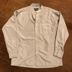 Yves Saint Laurent silk mandarin collar shirt